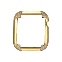 Load image into Gallery viewer, Pavé Corners Apple Watch Case - Gold