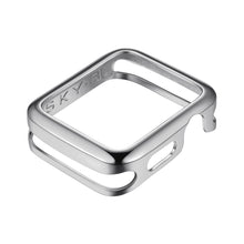 Load image into Gallery viewer, Front View Silver Minimalist Apple Watch Case jewelry