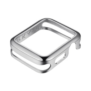 Front View Silver Minimalist Apple Watch Case jewelry