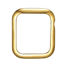 Load image into Gallery viewer, Face view Gold Minimalist Apple Watch Case jewelry