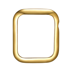 Face view Gold Minimalist Apple Watch Case jewelry