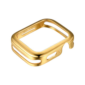 Front View Gold Minimalist Apple Watch Case jewelry