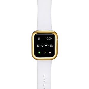Top View Gold Minimalist Apple Watch Case