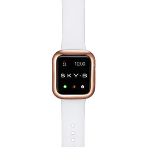 Top View Rose Gold Minimalist Apple Watch Case