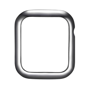 Face view Gunmetal Minimalist Apple Watch Case jewelry