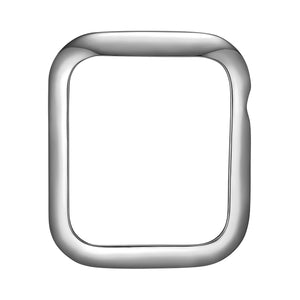 Face view Silver Minimalist Apple Watch Case jewelry