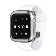Load image into Gallery viewer, Silver Minimalist Apple Watch Case jewelry for Women
