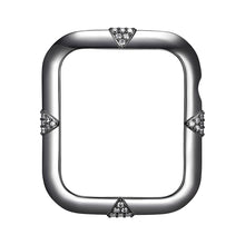 Load image into Gallery viewer, Face view Gunmetal Pavé Points Apple Watch Case jewelry