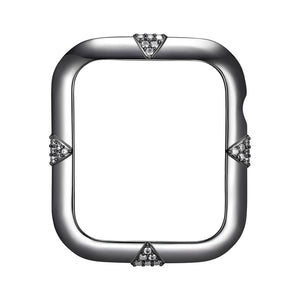 Face view Gunmetal Pavé Points Apple Watch Case jewelry