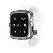 Load image into Gallery viewer, Gunmetal Pavé Points Apple Watch Case jewelry for Women