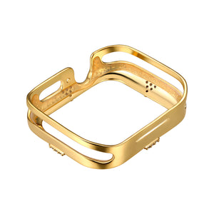 Rear View Gold Pavé Points Apple Watch Case jewelry