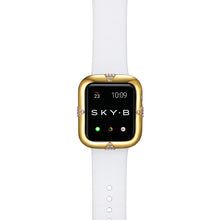 Load image into Gallery viewer, Top View Gold Pavé Points Apple Watch Case