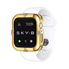 Load image into Gallery viewer, Gold Pavé Points Apple Watch Case jewelry for Women