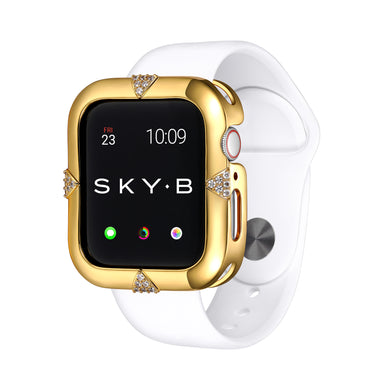 Gold Pavé Points Apple Watch Case jewelry for Women