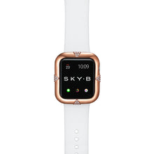 Load image into Gallery viewer, Top View Rose Gold Pavé Points Apple Watch Case