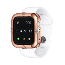 Load image into Gallery viewer, Rose Gold Pavé Points Apple Watch Case jewelry for Women