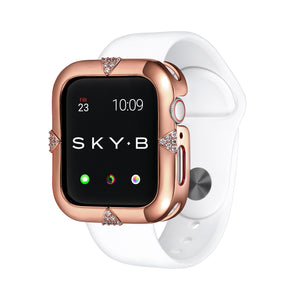 Rose Gold Pavé Points Apple Watch Case jewelry for Women