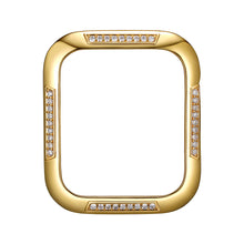 Load image into Gallery viewer, Face view Gold Runway Apple Watch Case jewelry