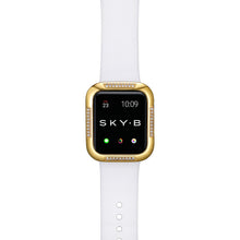 Load image into Gallery viewer, Top View Gold Runway Apple Watch Case