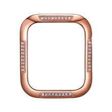 Load image into Gallery viewer, Face view Rose Gold Runway Apple Watch Case jewelry