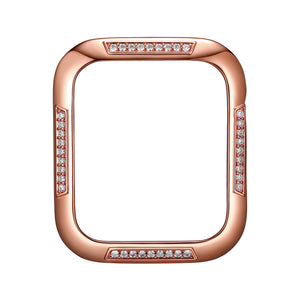 Face view Rose Gold Runway Apple Watch Case jewelry
