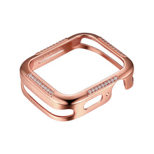 Load image into Gallery viewer, Front View Rose Gold Runway Apple Watch Case jewelry