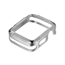 Load image into Gallery viewer, Front View Silver Runway Apple Watch Case jewelry
