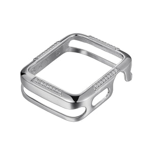 Front View Silver Runway Apple Watch Case jewelry