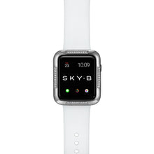 Load image into Gallery viewer, Top View Silver Runway Apple Watch Case