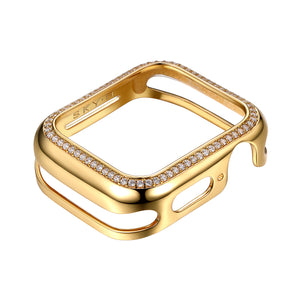 Milan Band Charms & Halo Apple Watch Case - Gold (White Band)