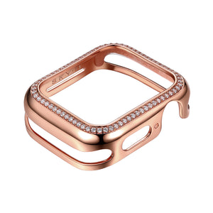 Milan Band Charms & Halo Apple Watch Case - Rose Gold