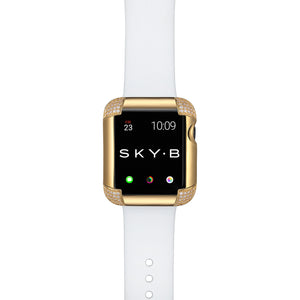 Pavé Corners Apple Watch Case - Gold