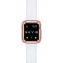 Load image into Gallery viewer, Pavé Corners Apple Watch Case - Rose Gold