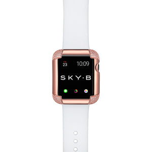 Pavé Corners Apple Watch Case - Rose Gold