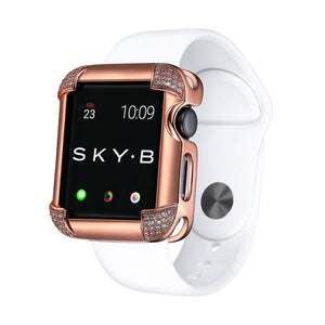 Pavé Corners Apple Watch® Case - Rose Gold