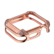 Load image into Gallery viewer, Venice Band Charms & Pavé Corners Apple Watch Case - Rose Gold