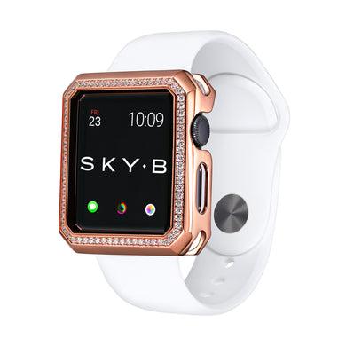 Deco Halo Apple Watch Case - Rose Gold