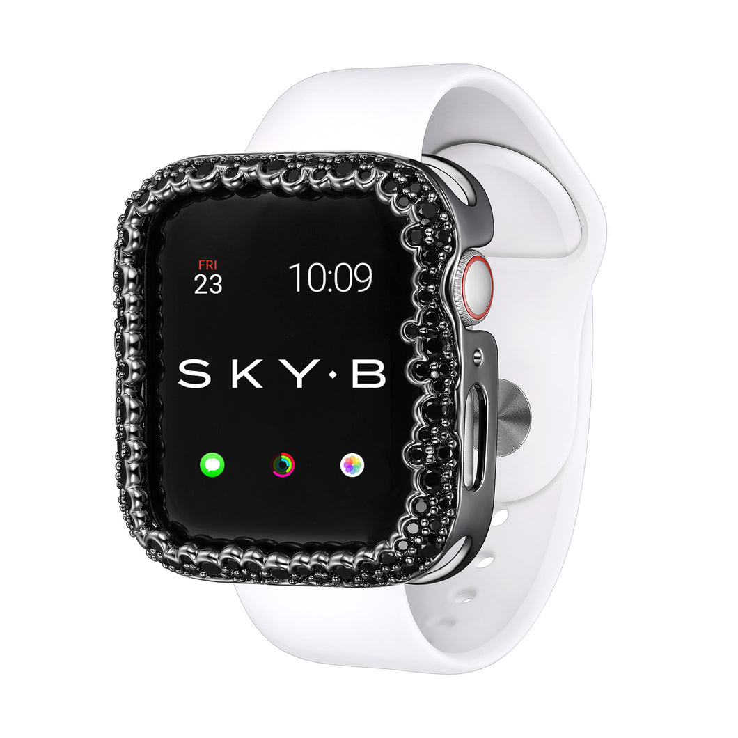 Champagne Bubbles Apple Watch Case - Black