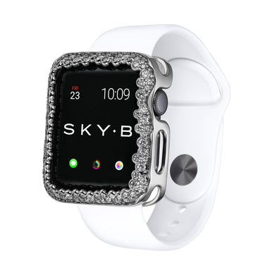 Champagne Bubbles Apple Watch Case - Silver