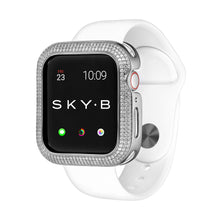 Load image into Gallery viewer, Silver Triple Halo Apple Watch Case jewelry for Women
