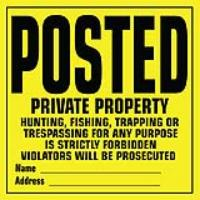 POSTED SIGNS SET OF 12
