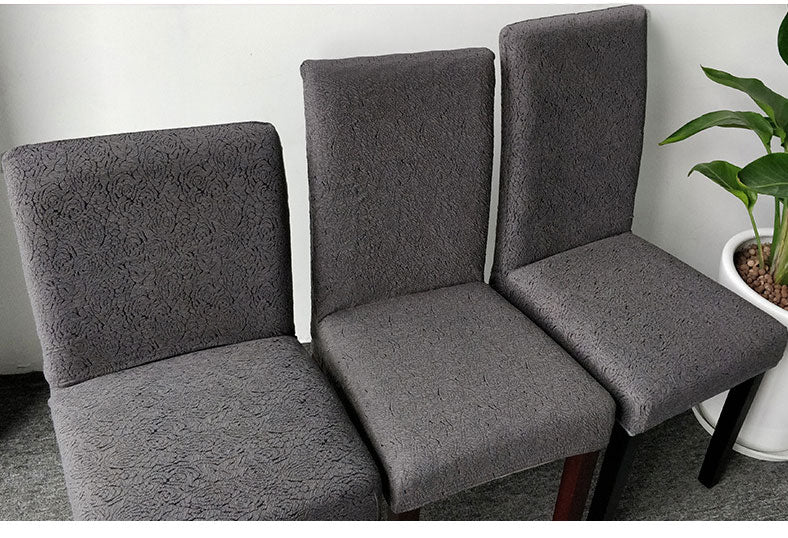 Simple solid color thick knit petal stretch chair cover【two free shipping】