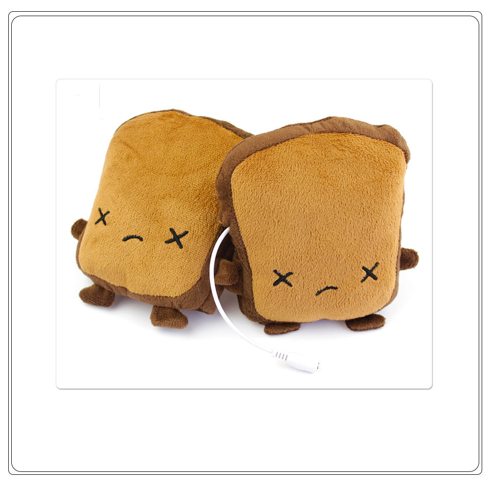 【Hot Selling!!!】The Winter Gift——Toast Shaped USB Heated Hand Warmers