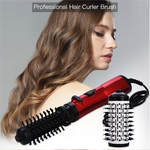 2 in 1 One Step Hair Blow Dryer and Volumizer,3 Speed/Heat Settings Ceramic Tourmaline Ionic Hair Curler Anti-Scald Curling Wands