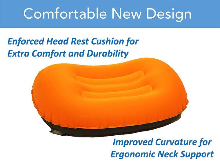 HOT!!! Ultralight Inflating Travel/Camping Pillows - Compressible, Compact, Inflatable, Comfortable, Ergonomic Pillow for Neck & Lumbar Support while Camp, Backpacking