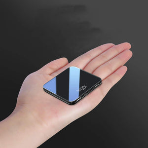 【Free Shipping Today!!!】The most visually horizontal mini mobile power-Ultra-thin mirror mini wireless charging mobile power supply
