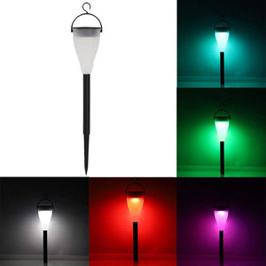 Color Changing Solar Lights Waterproof Outdoor LED Power Lawn Lamp Perfect for Garden Landscape Path Yard Pathways, 4 Pack
