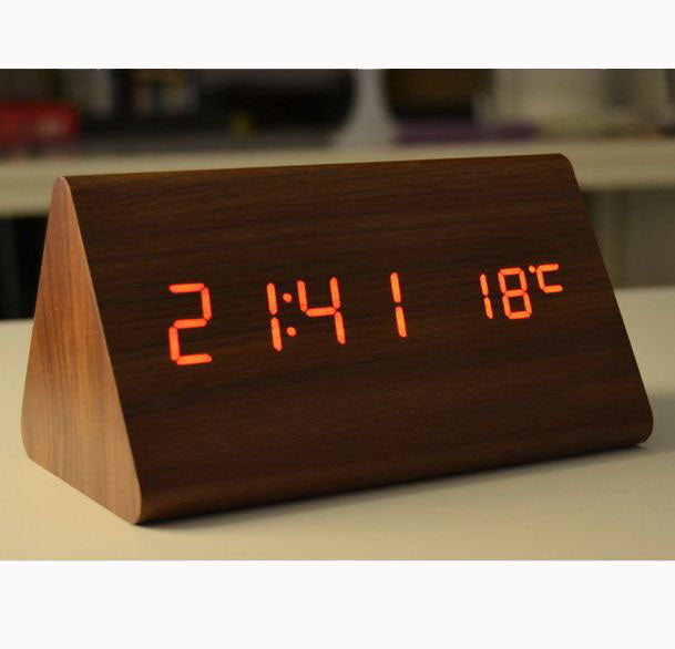 【Hot Selling!!!】Digital LED Voice-Control Wooden Clock!!!