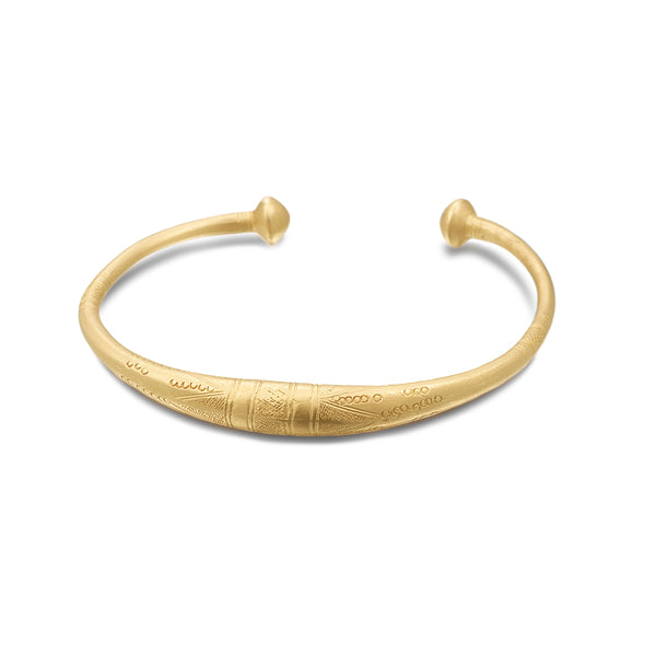 ENGRAVED GOLD ELEMENT CUFF