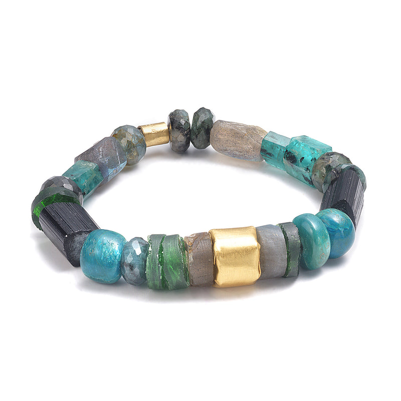 MEDIUM CHUNKY EMERALD BRACELET